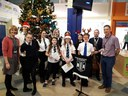 Carol singing at Ninewells