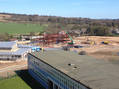 It's great being able to watch progress from our current premises......
