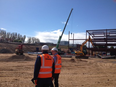 Mr Hearn on our 1st site visit